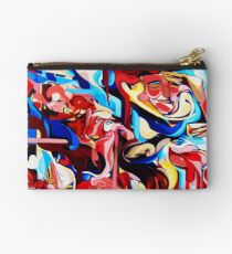 Expressive Abstract People Composition painting Zipper Pouch