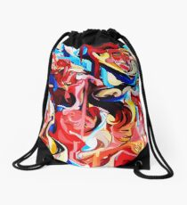 Expressive Abstract People Composition painting Drawstring Bag