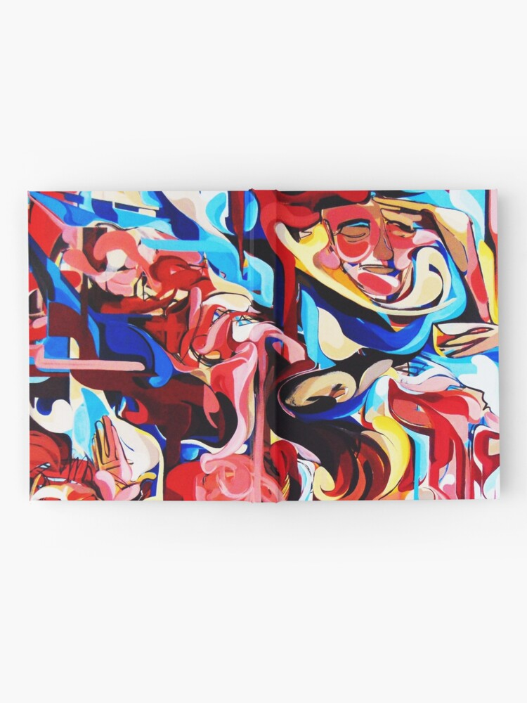 Alternate view of Expressive Abstract People Composition painting Hardcover Journal