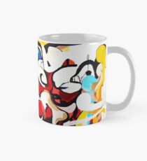 Expressive Abstract People Music Composition painting Classic Mug