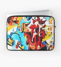 Expressive Abstract People Music Composition painting Laptop Sleeve