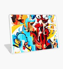 Expressive Abstract People Music Composition painting Laptop Skin