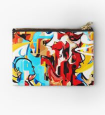 Expressive Abstract People Music Composition painting Zipper Pouch