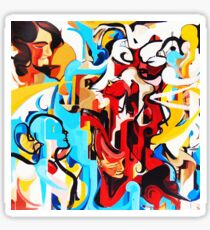 Expressive Abstract People Music Composition painting Sticker