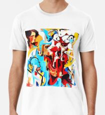 Expressive Abstract People Music Composition painting Premium T-Shirt
