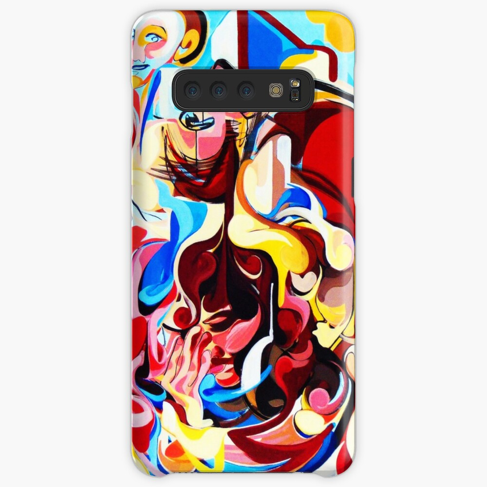 Expressive Abstract People Music Composition painting Case & Skin for Samsung Galaxy