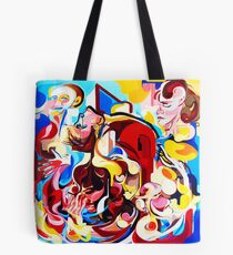 Expressive Abstract People Music Composition painting Tote Bag