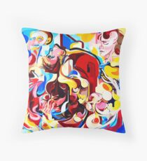 Expressive Abstract People Music Composition painting Throw Pillow