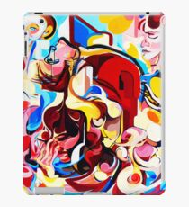 Expressive Abstract People Music Composition painting iPad Case/Skin
