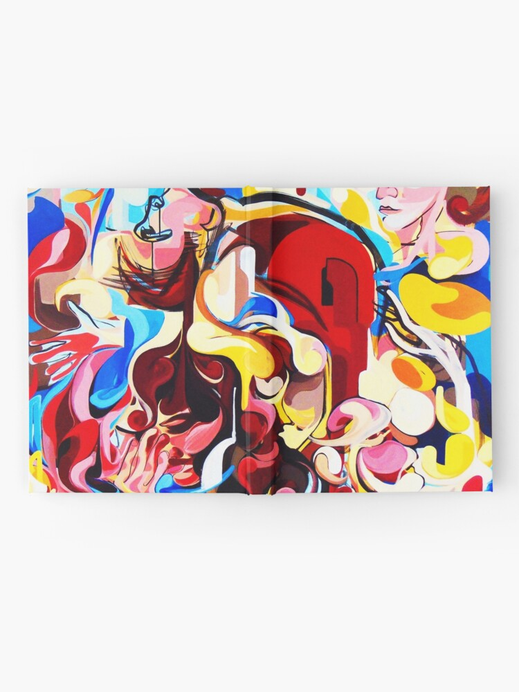 Alternate view of Expressive Abstract People Music Composition painting Hardcover Journal