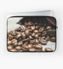 Spilled Coffee Beans Laptop Sleeve