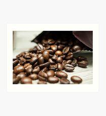Spilled Coffee Beans Art Print