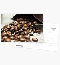 Spilled Coffee Beans Postcards