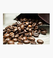 Spilled Coffee Beans Photographic Print