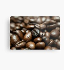 Coffee Bean Close-up Metal Print