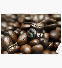 Coffee Bean Close-up Poster