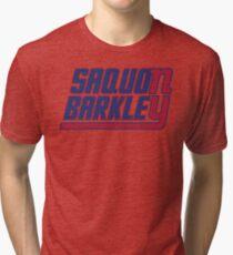 Saquon Barkley on the Giants Tri-blend T-Shirt