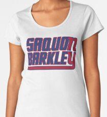 Saquon Barkley on the Giants Women's Premium T-Shirt