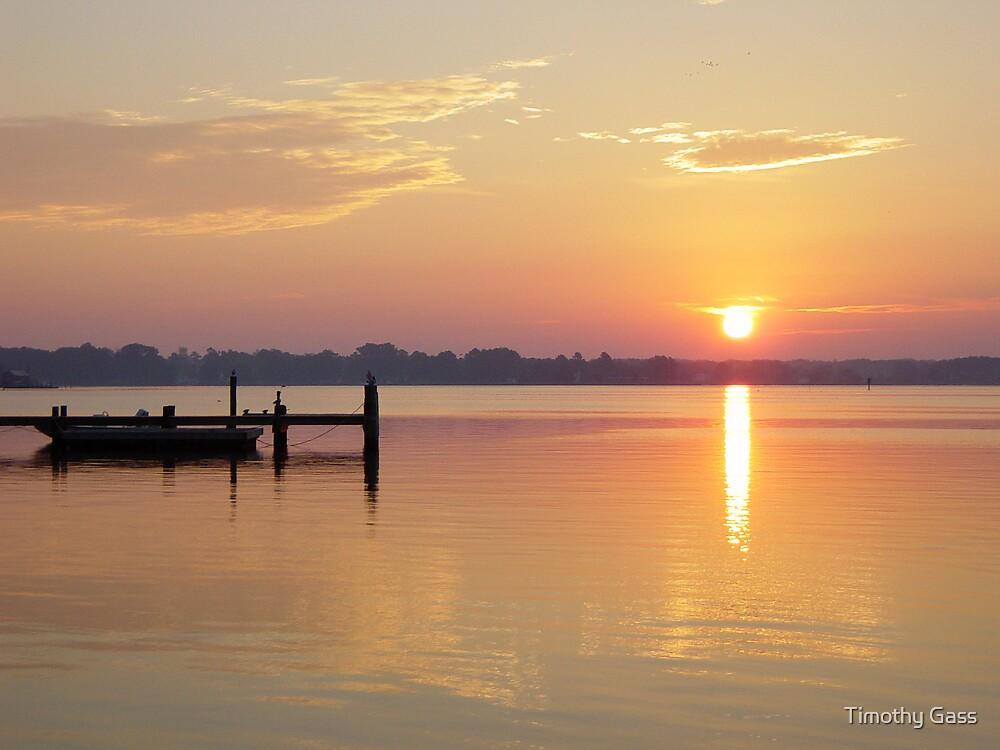 Sun rising on Gwynn's Island, Virginia by Timothy Gass