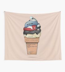 Shoes Off White Ice Cream Wall Tapestry