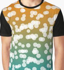 Blurry Lights: Teal & Orange Graphic T-Shirt