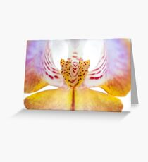 Spotted Orchid's Center Greeting Card