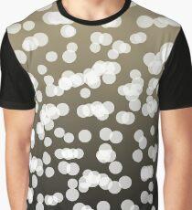 Blurry Lights: Black & Brown Graphic T-Shirt