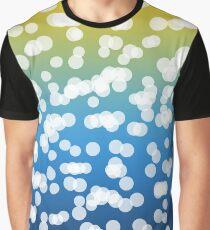 Blurry Lights: Blue & Yellow Graphic T-Shirt