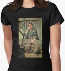 Toshiro Mifune Smoking Women's Fitted T-Shirt