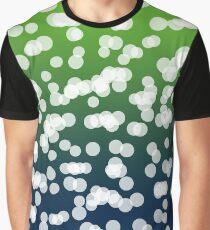 Blurry Lights: Dark Blue & Green Graphic T-Shirt