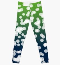 Blurry Lights: Dark Blue & Green Leggings