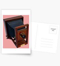 Vintage 19th Century Wooden Camera Postcards