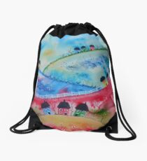 Over the Hills Drawstring Bag