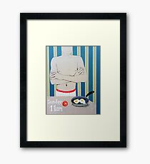 The Naked Chef Framed Print
