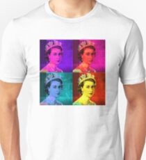 Queen Elizabeth II - Pop Art Unisex T-Shirt