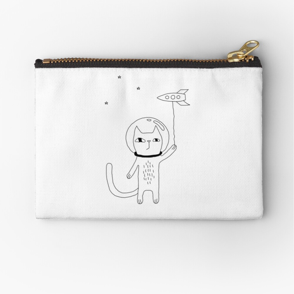 Space Cat Zipper Pouch