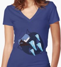 Blue Knight - Sunset Shores Women's Fitted V-Neck T-Shirt