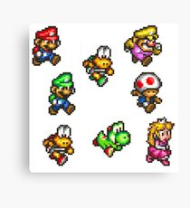 Super Mario Run / The Next Canvas Print