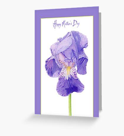 Purple Iris Mother's Day Greeting Card