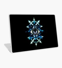 EVIL EYE WITH CHAOS STAR - blues  Laptop Skin