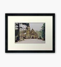 Snowy church  Framed Print