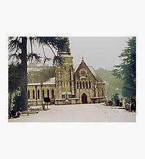 Snowy church  Photographic Print