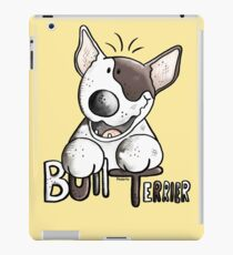 Funny Bull Terrier Comic - Dog - Dogs - Cartoon - Funny - Gift iPad Case/Skin
