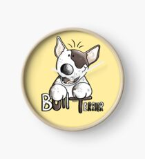 Funny Bull Terrier Comic - Dog - Dogs - Cartoon - Funny - Gift Clock