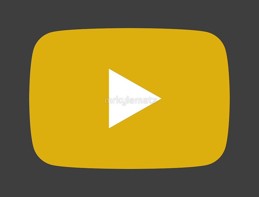 YouTube Logo but in Demonetised Yellow by mrkylematz