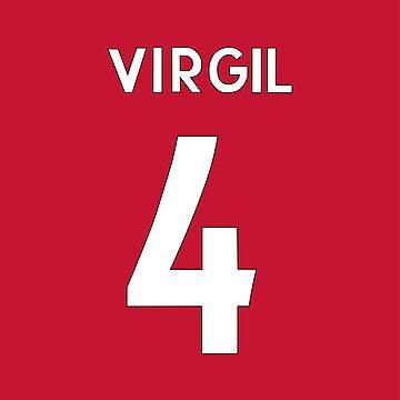 Virgil Van Dijk Liverpool FC / Holland shirt by DanDobsonDesign