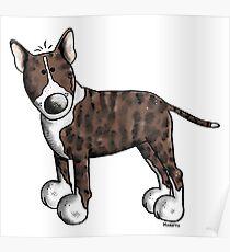 Funny Bully - Bullterrier - Bull Terrier - Dog - Dogs - Gift - Comic Poster