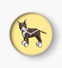 Funny Bully - Bullterrier - Bull Terrier - Dog - Dogs - Gift - Comic Clock