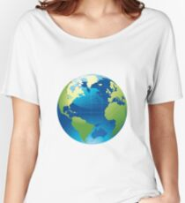 Cartography Chromatic Continents  Women's Relaxed Fit T-Shirt