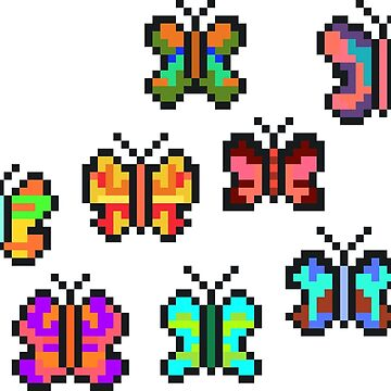 pixel butterfly by Ravenclaw1126